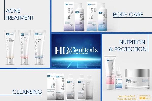 HD Derma nổi tiếng với những dòng mỹ phẩm mang tính đặc trị cho từng làn da riêng biệt