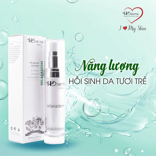 Relaxaderm HD Derma chứa các thành phần dưỡng chất lành tính an toàn cho mọi loại da
