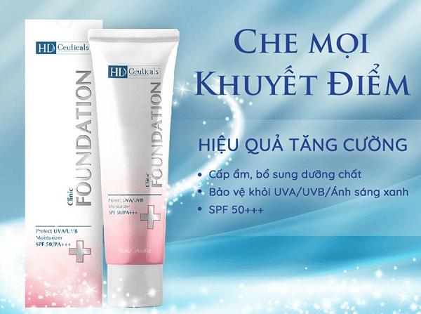 Kem chống nắng HD Derma là sản phẩm kem nền theo tiêu chuẩn Y Khoa