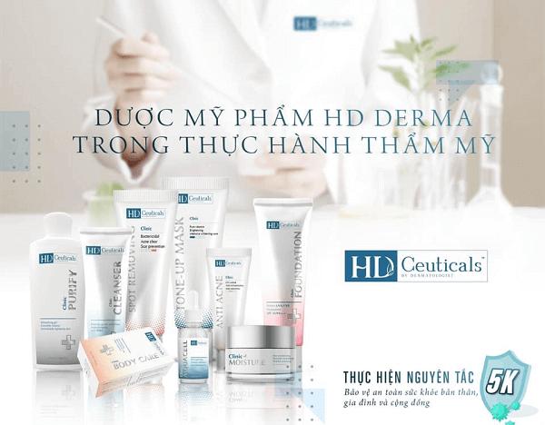 Thuộc thương hiệu dược mỹ phẩm HD Derma nên kem trị thâm mụn Anti Acne vô cùng lành tính