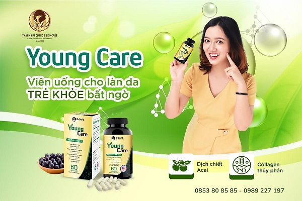 Viên uống YoungCare được sản xuất độc quyền tại Thanh Hải Clinic & Skincare