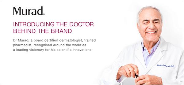 Bác sĩ Howard Murad - Ông là một giáo sư, tiến sĩ, nhà nghiên cứu trong ngành da liễu