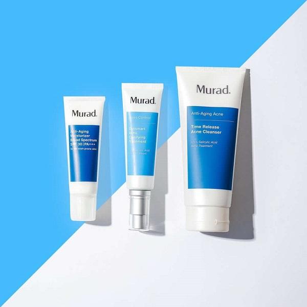 Outsmart Acne Clarifying Treatment nằm trong combo trị mụn thần thánh của hãng Murad