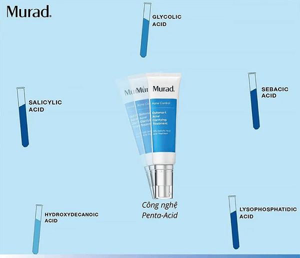 Thành phần kem trị mụn Murad được công nhận về độ hiệu quả, an toàn, phù hợp với mọi loại da