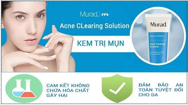 Sản phẩm được hãng Murad cam kết về độ an toàn, không gây kích ứng cho da