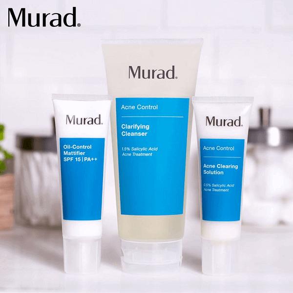 Kết hợp với những sản phẩm trị mụn của Murad Clarifying Cleanser sẽ đem lại kết quả cao hơn