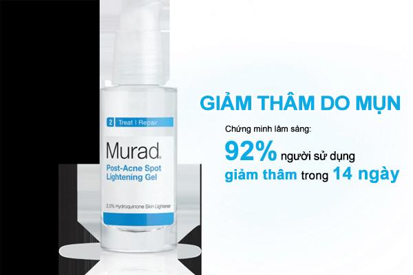 Sản phẩm được chứng minh lâm sàng sẽ cho kết quả trị thâm mụn trong vòng 2 tuần