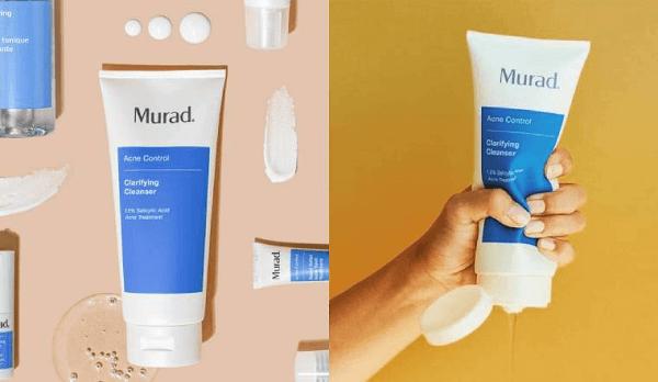 Trước khi rửa mặt với Murad Clarifying Cleanser bạn nên tẩy trang để làm sạch da sâu hơn