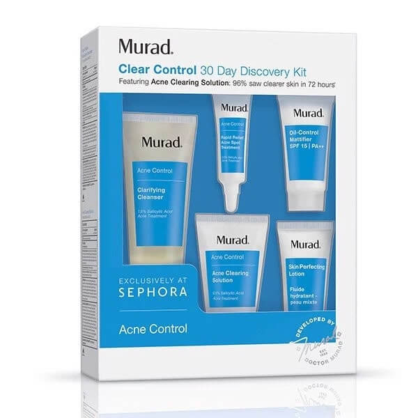 Set trị mụn Murad Clear Control 30 Day Discovery Kit